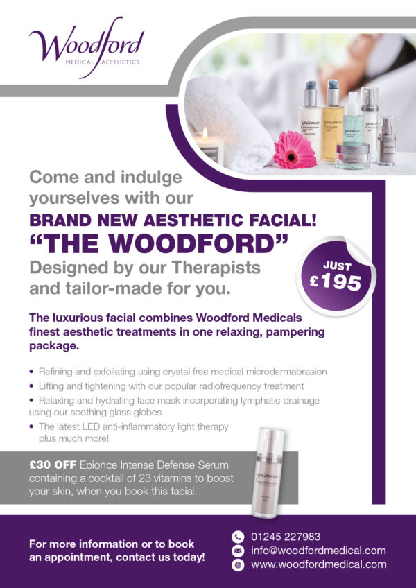 The Woodford Facial information leaflet
